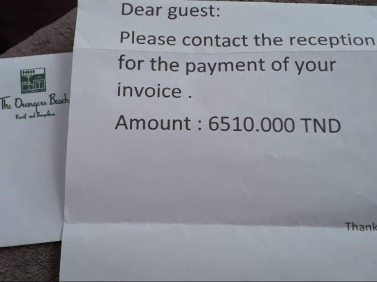 hotel demand letter