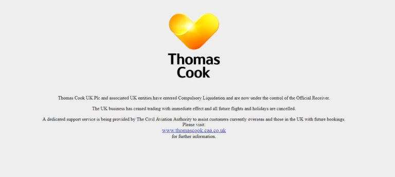 thomas cook collapse