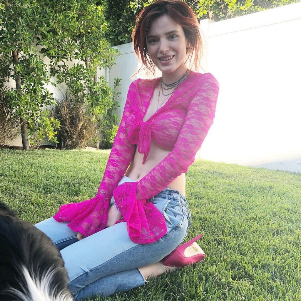 Bella Thorne Braless & See Through Pics