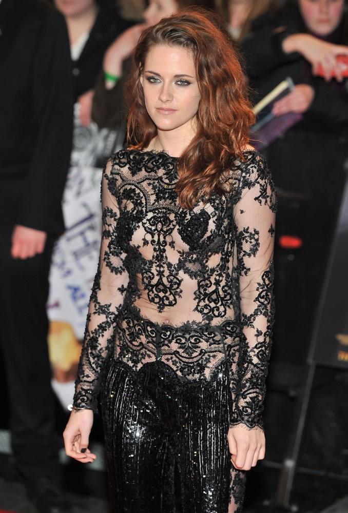 Kristen Stewart Nip Slip & See Through Pics