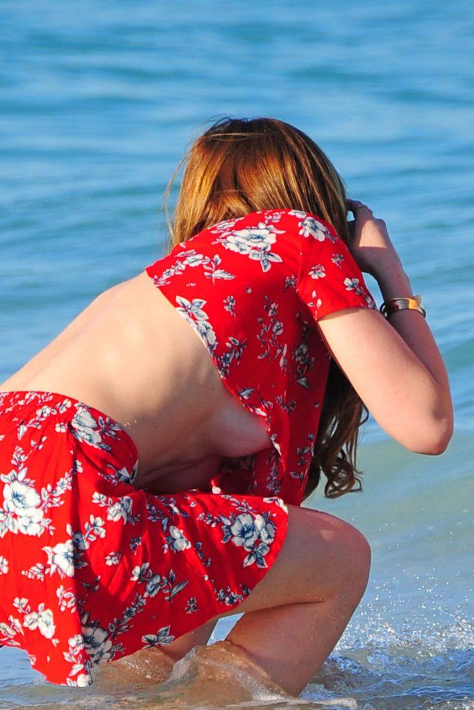 Bella Thorne Underboob Photos