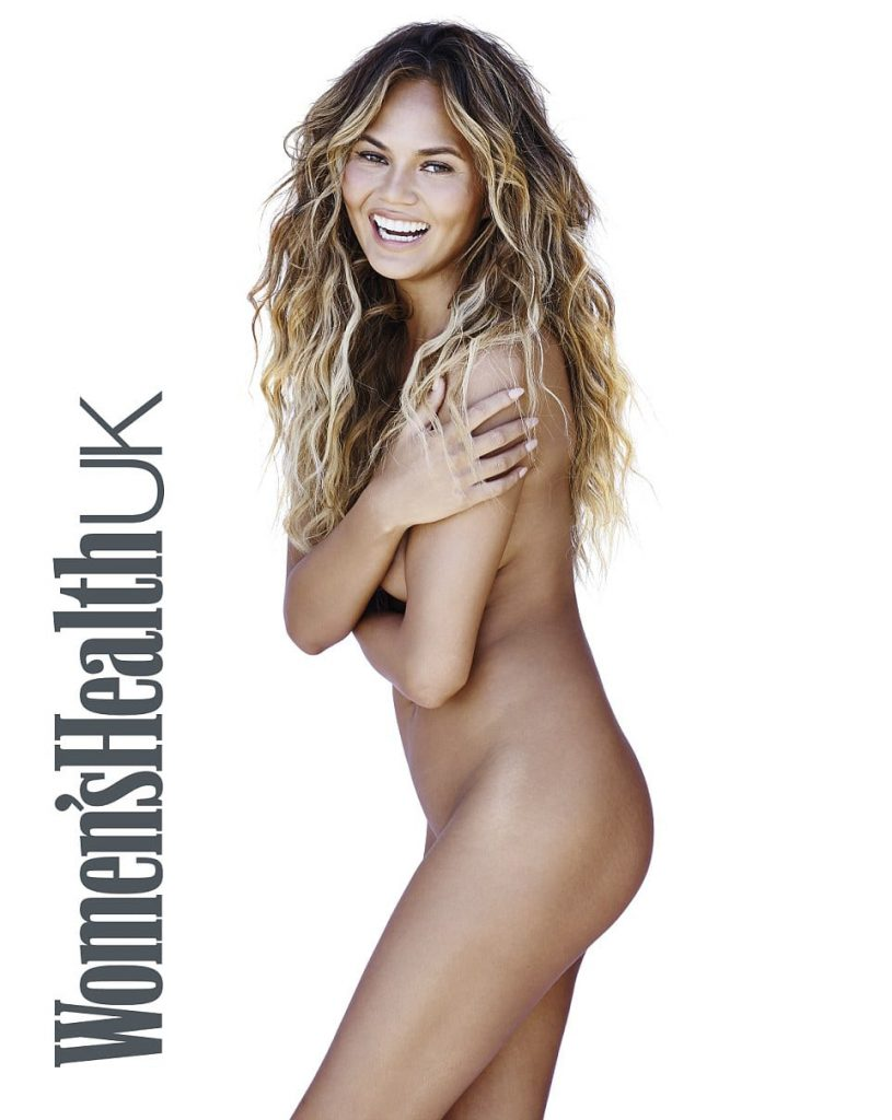 Chrissy Teigen Strips for Women's Health