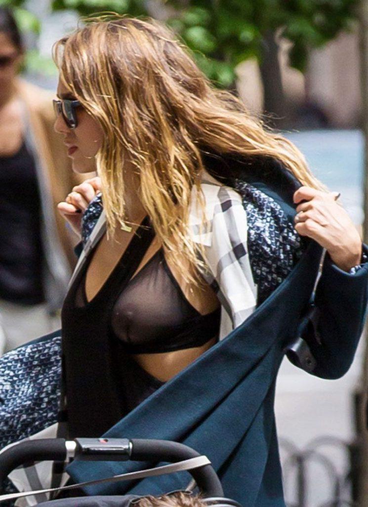 Jessica Alba See Through Pics & Nipples