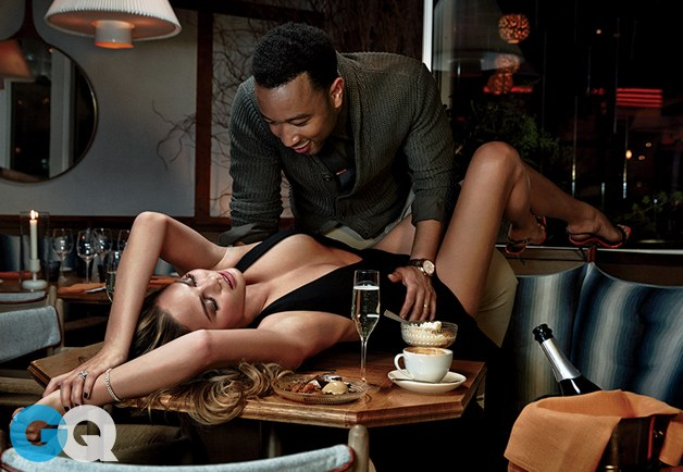 John Legend And Chrissy Teigen GQ Photoshoot