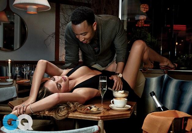 John Legend And Chrissy Teigen GQ Photoshoot