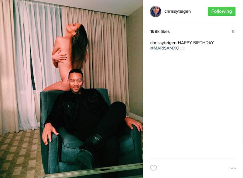 Chrissy Teigen Poses Nude On Instagram