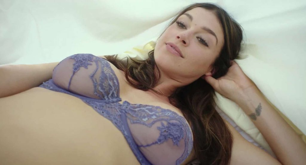Adrianne Palicki tits exposed in her see through bra