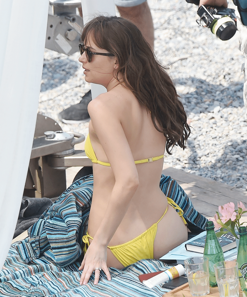 Dakota Johnson Nude - Topless In Nice France