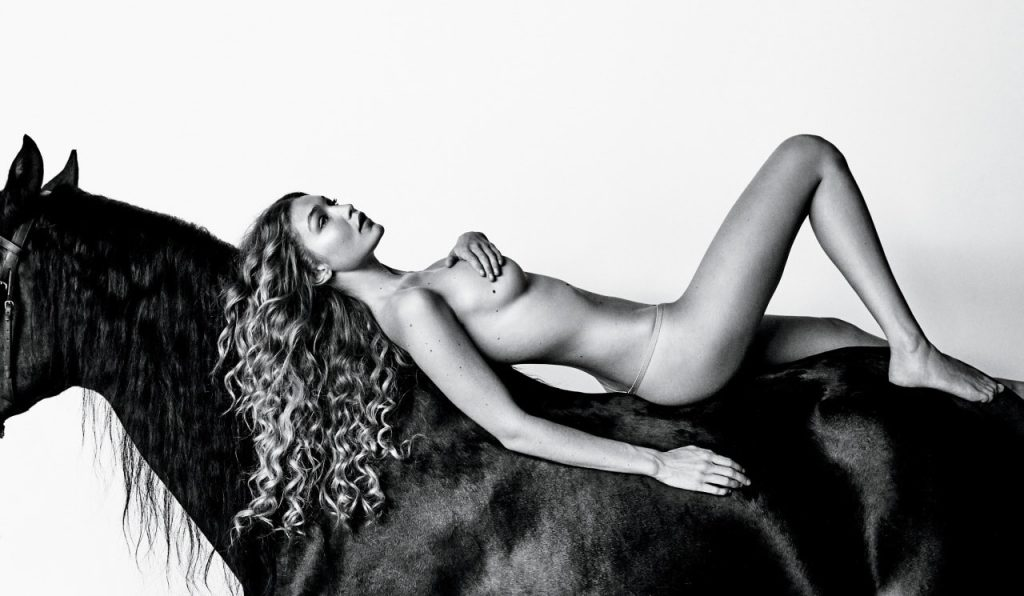 Gigi Hadid Nude On Horse – Allure
