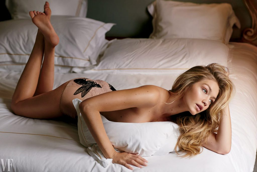 Gigi Hadid Sexy Topless Pics – Vanity Fair & Allure