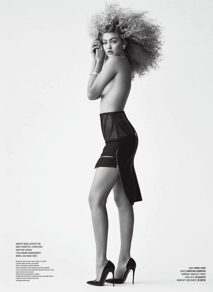 Gigi Hadid Topless – V Magazine