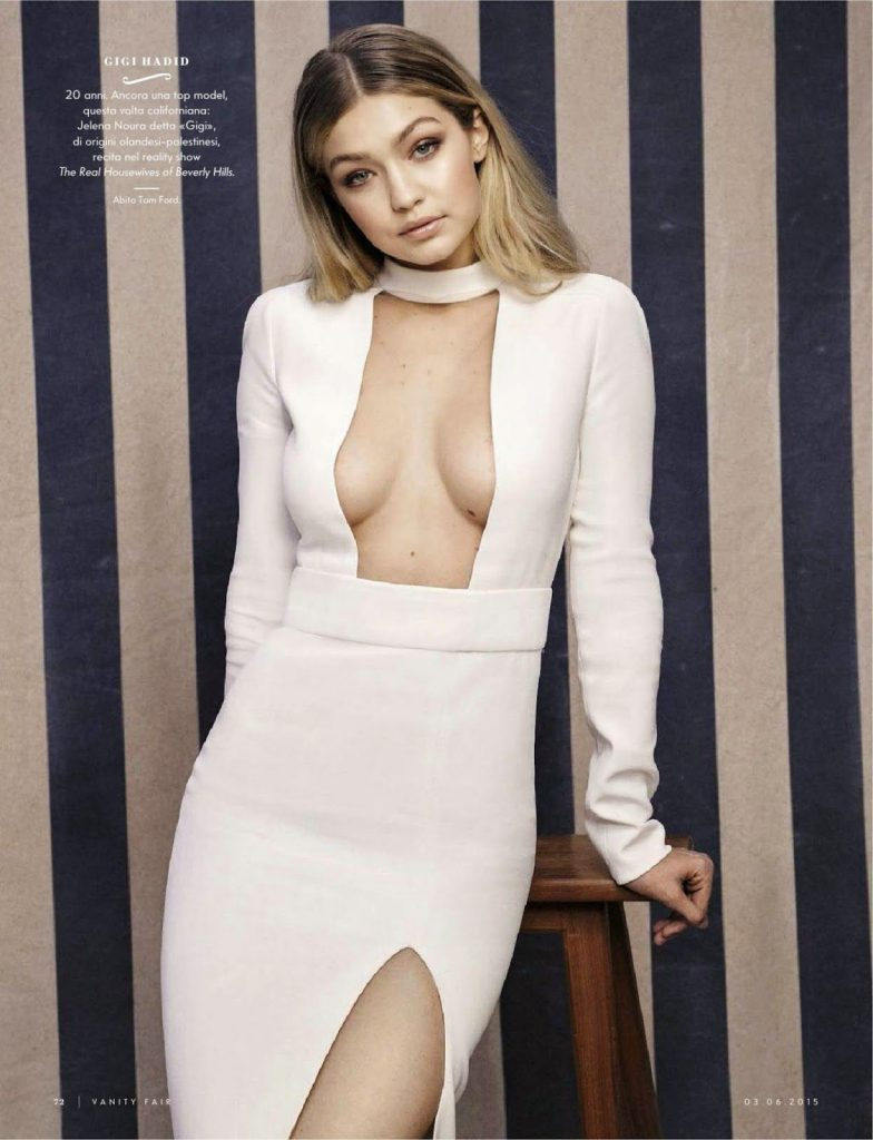 Gigi Hadid Sexy Cleavage Photos