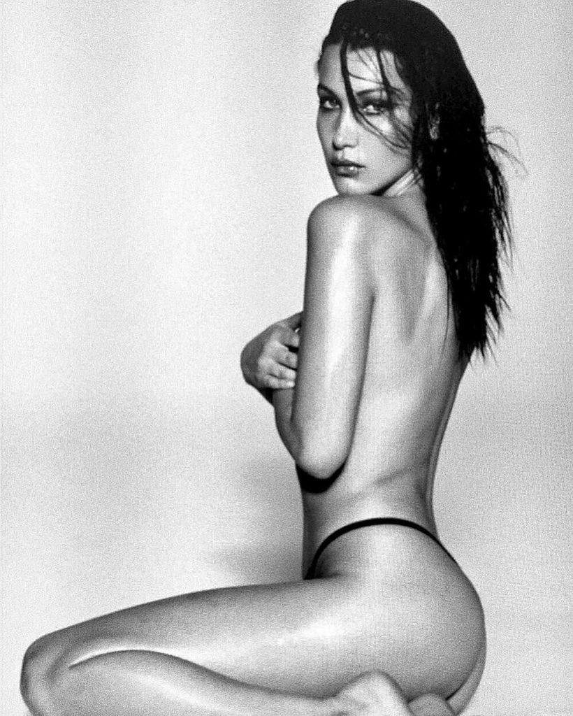 Bella Hadid Nude Topless Photos