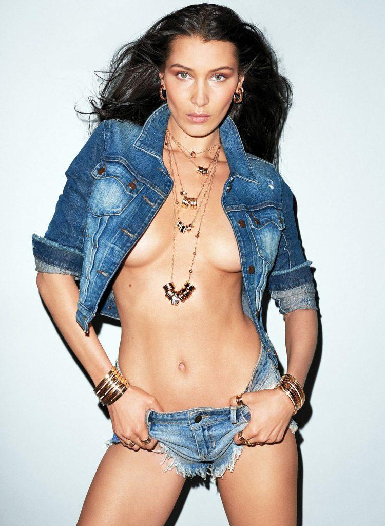 Bella Hadid topless photos