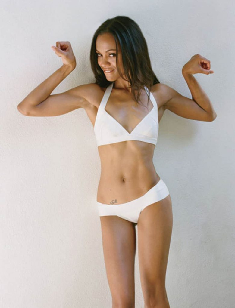 Zoe Saldana sexy hot bikini pics