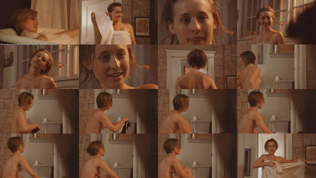 Allison Mack Nude Scene in Marilyn Movie