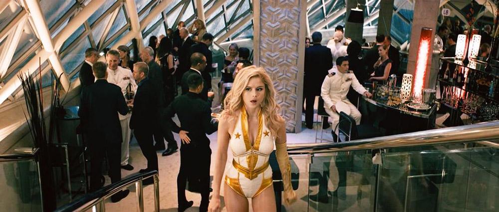 Erin Moriarty sexy Superhero costume