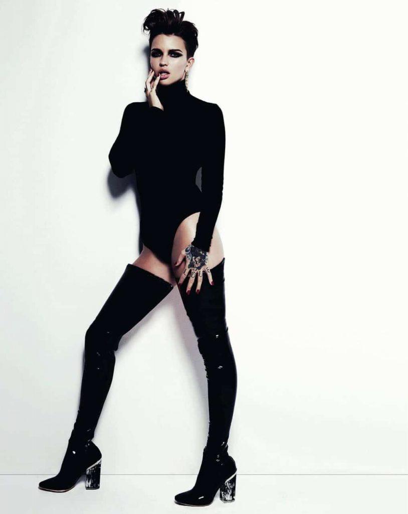 Ruby Rose Topless Photo Shoot – GQ Magazine