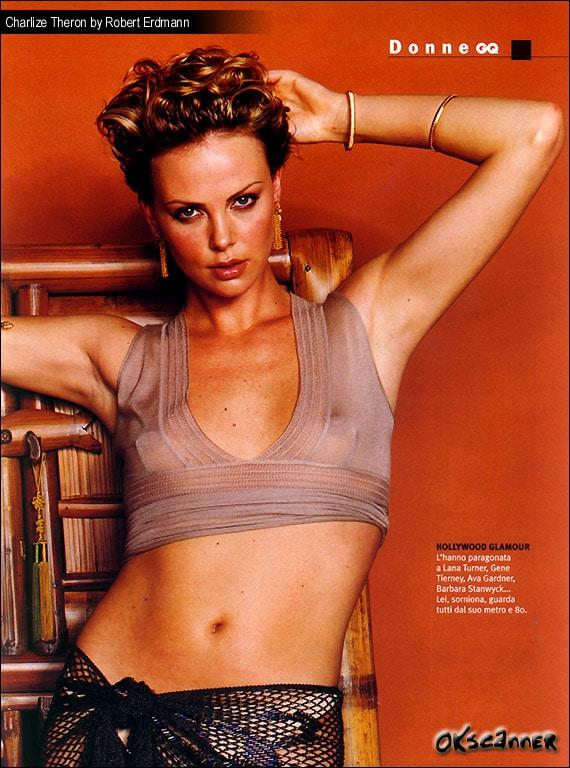 Charlize Theron Sexy Nip Slips