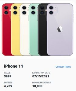 Win An IPhone 11